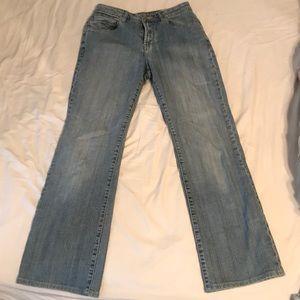 boot-leg jeans